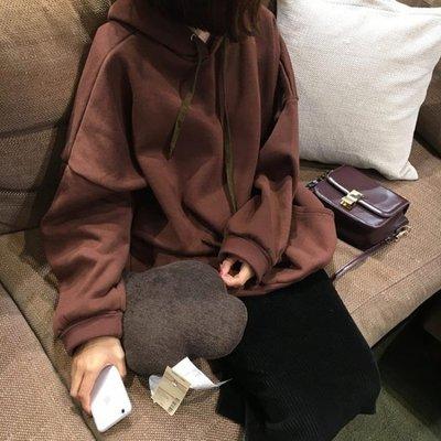 店長嚴選大學T女韓版潮學生2019新款寬鬆ulzzang加絨加厚連帽長袖外套