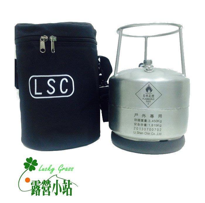 露營小站~【AM-C】美規戶外家庭休閒野地工程不鏽鋼瓶3.5KG+外袋 ,贈-台灣製造
