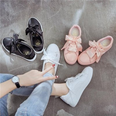 小白鞋女厚底帆布鞋學生女鞋鞋 學生鞋   全館免運