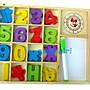 小白代購網滿千免運/木製時鐘數字積木盒/彩色數字學習板數字白板遊戲盒/積木拼圖益智玩具/ 認識數字數學加減遊戲