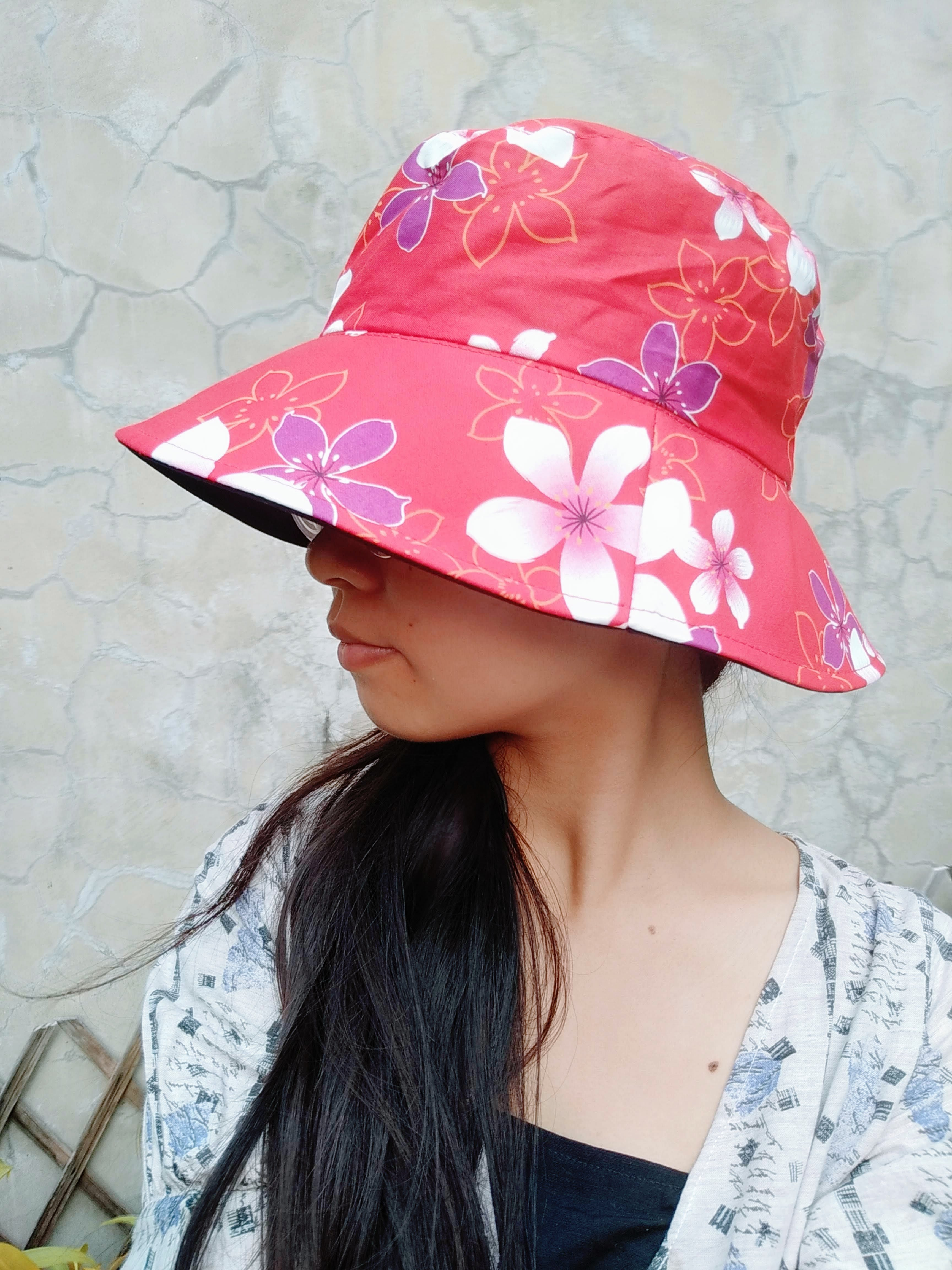 漁夫帽-(3款)☆台灣花布帽☆