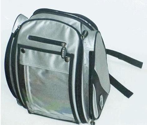 美國名牌 T-BAGs 重型機車專用油箱包,透明地圖夾,1大2中1小格層,強力磁鐵吸附油箱,有提把