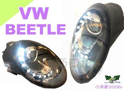 小亞車燈改裝*VW 福斯 金龜車 BEETLE 遠近雙光 2006-2010年 類12年後式樣 R8燈眉 魚眼 大燈