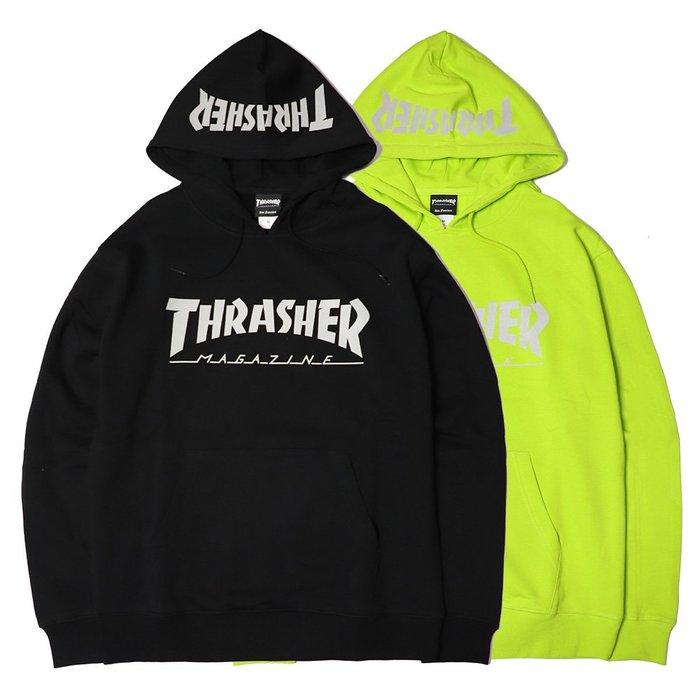 【QUEST】THRASHER HOMETOWN REFLECTIVE 日線 反光LOGO帽T