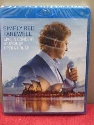 歐版藍光BD BLU-RAY《就是紅合唱團》珍重再見! 雪梨歌劇演唱會 /Simply Red Farewell