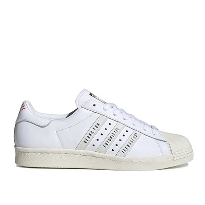 【A-KAY0】ADIDAS X HUMAN MADE 男女 SUPERSTAR 80S WHITE 白【FY0730】