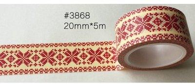 小螃蟹❤文雜:和紙膠帶/裝飾膠帶【聖誕快樂】