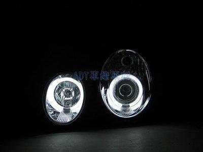 ~~ADT.車燈.車材~~BENZ W208 CLK  CCFL光圈魚眼黑底大燈一組9000