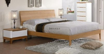 【DH】貨號G015-2《愛倫》5尺白橡木雙人床架˙自然風格˙潔白設計˙質感一流˙主要地區免運
