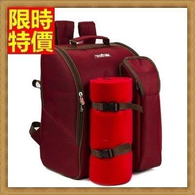 野餐包 2人餐具組 雙肩後背包-出遊便捷燒烤露營登山必備大容量野餐包 68ag42[獨家進口][米蘭精品]