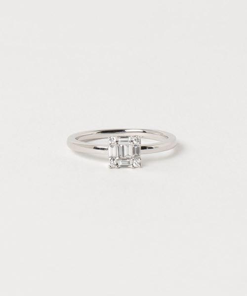 【日本代購】小店主的購物小店:BELLESIORA 戒指 PT950ダイヤモンドリング 40172311004