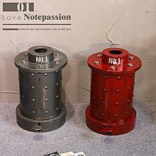 LOFT複古鐵藝油桶腳踏垃圾桶收納箱個性式創意時尚酒吧咖啡店擺件(兩色可選)