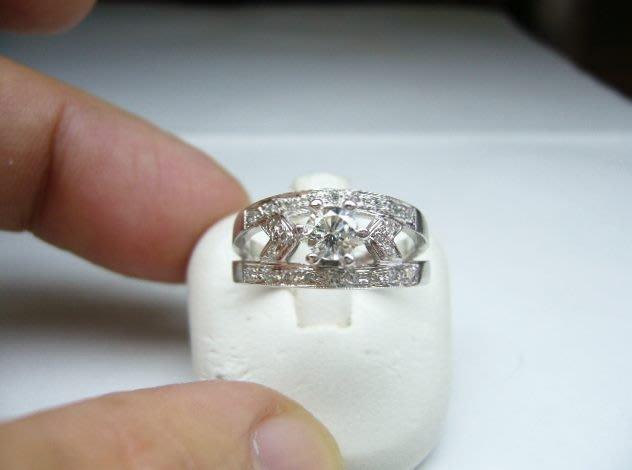 [吉宏精品交流中心]35分 南非天然鑽石 白K金 造型 戒指