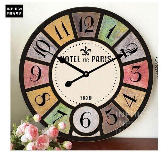 ♥精選暖心商品♥ 復古美式創意掛鐘錶loft工業風牆壁裝飾客廳工作室掛鐘錶靜音