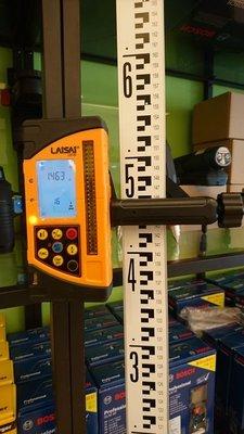 [測量儀器量販店]萊賽LAISAI LS722雷射數位測距接收器2/雷射水平儀 紅綠光戶外接收器並可測距30米高層專用