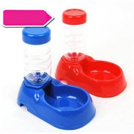 【自動喂水器-座式-塑膠-260ml-1個/組】狗狗座式飲水器 自動出水寵物貓咪水碗  顏色隨機-79011