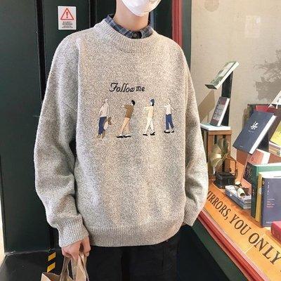 毛衣男士秋冬季寬松2018新款高領針織衫韓版潮流個性線衣外套情侶