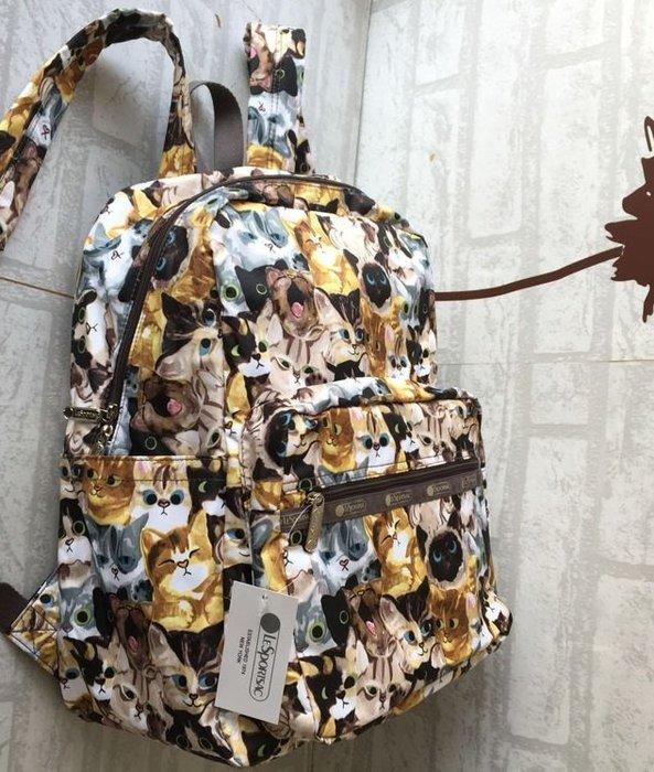 ♥ 小花日韓雜貨 ♥ -- lesportsac 7990  貓咪旅行逛街後背包