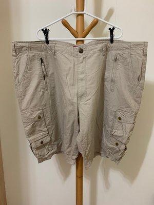 衣市藍~BIG TRAIN 工作短褲 (W48~卡其色~) (210707)
