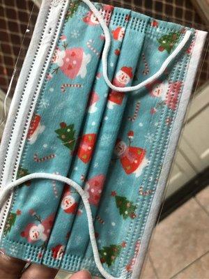 台灣現貨 特殊收藏兒童平面口罩 藍綠聖誕?雪人⛄️8片裝 (內含8片藍綠聖誕?雪人⛄️)