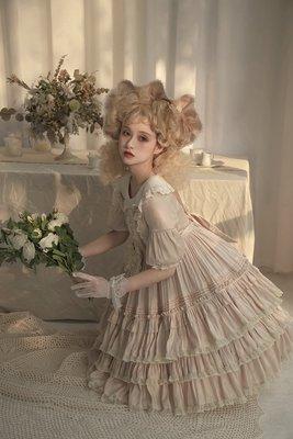洋裙 lolita 洛麗塔【人形幽靈】 Lolita暗黑 田園風 偏光 doll感  OP現貨頁面