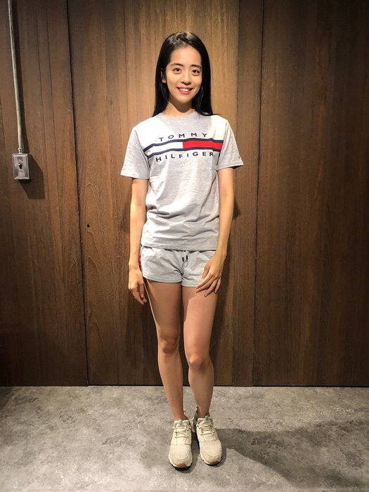 美國百分百【全新真品】Tommy Hilfiger T恤 TH 棉T LOGO T-shirt 短袖 灰/白色 AI48