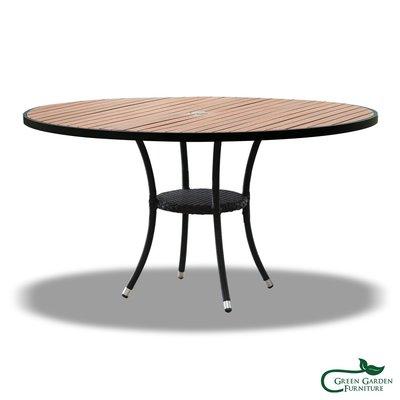 膠藤 塑木圓桌【大綠地家具】藤編家具/圓桌/餐桌/塑木桌/室內戶外兩用