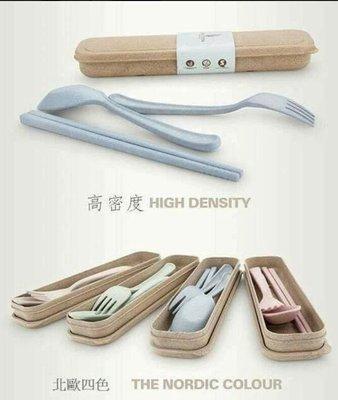 ((餐具三件套)))韓國 無毒小麥環保餐具三件套