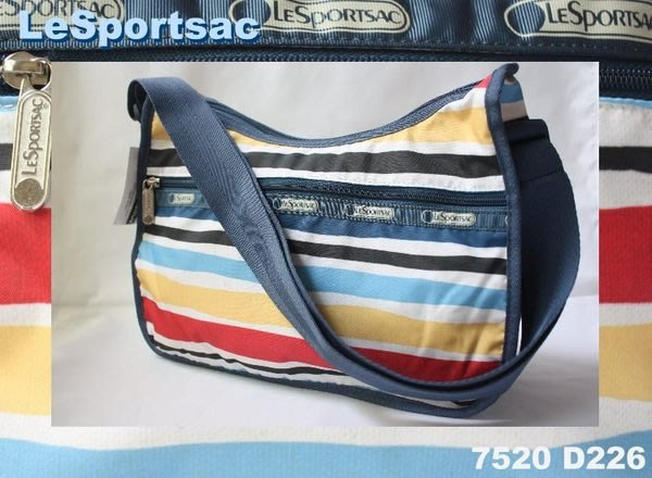 【LeSportsac】100% 全新正品 7520 D226 / CABANA STRIPE 熱門款 實用 側肩包 斜背包*附收納袋*NEW
