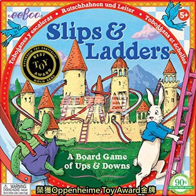 【蓁寶貝】 美國 正品 eeboo 美國知名親子桌遊 Slips   Ladders  龜兔競賽 有 商檢標章