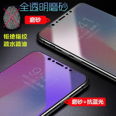 OPPO A7X磨砂鋼化膜 AX7 Pro抗藍光玻璃膜A7/AX7防指紋紫光手機保護膜