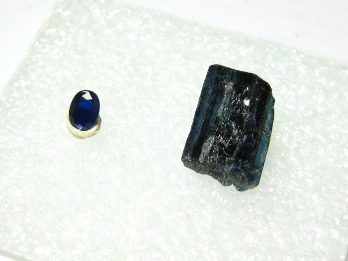 【Texture & Nobleness 低調與奢華】寶石&原礦 藍晶石切割戒面&原礦