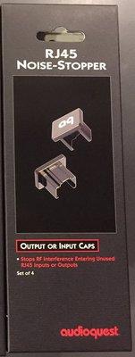 ~高雄富豪音響~美國線聖 Audioquest RJ45 端子 屏蔽防塵保護蓋 4顆一盒