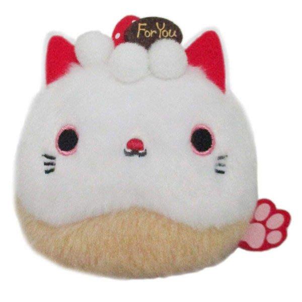 【生日蛋糕 沙包貓娃娃】貓沙包 沙包貓  娃娃 草莓蛋糕 日本正版 該該貝比日本精品 ☆