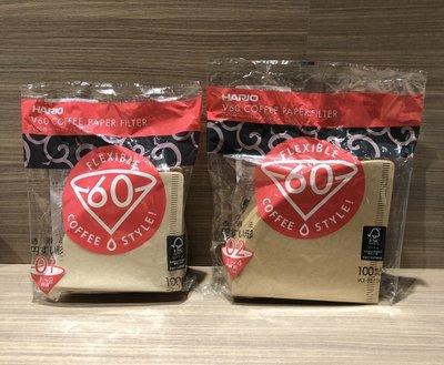 【台北自取】HARIO 日本原裝 V60錐形濾紙 無漂白濾紙 2-4人圓錐濾紙 100入