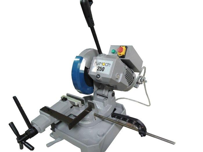 金工切割機不鏽鋼圓鋸機金屬角度250MM切斷機附切鐵鋸片切削幫浦防漏電負載開關2段變速慢速42~84RPM無火花富上機械