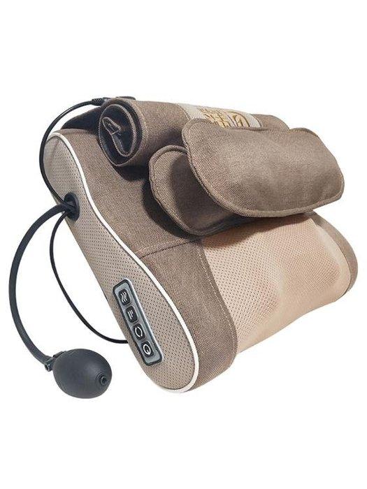 頸椎按摩器頸部腰部脖子肩部肩頸背部電動枕頭多功能全身家用靠墊CY
