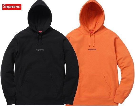 【超搶手】全新正品 2017 Supreme Compact Logo Hooded Sweatshirt 刺繡字體帽T