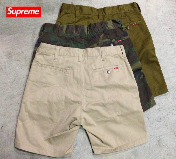 【超搶手】全新正品 2014 SS 春夏 最新款 Supreme Work Short 工作褲 短褲  軍綠 W30