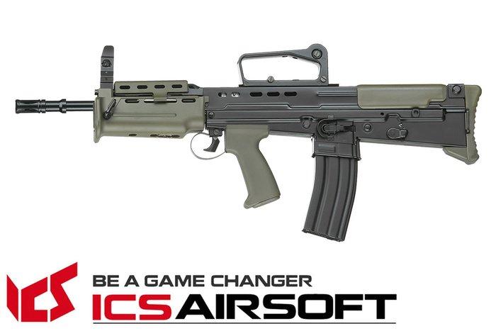【翔準軍品AOG】ICS L85 A2卡賓步槍(雙色) 突擊步槍 電動槍 全金屬 長槍 生存遊戲 ICS-87
