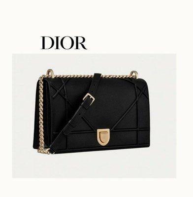 DIOR ►CD Diorama 藤格幾何紋(黑色×淡金色) / 25×16×8cm /  肩背包 斜背包|100%全新正品|代購