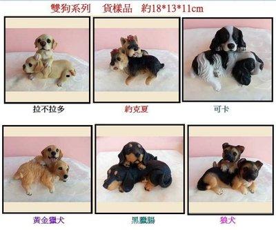 【浪漫349】黃金獵犬 桌邊雙狗系列樣品貨 哥倆好姐妹淘