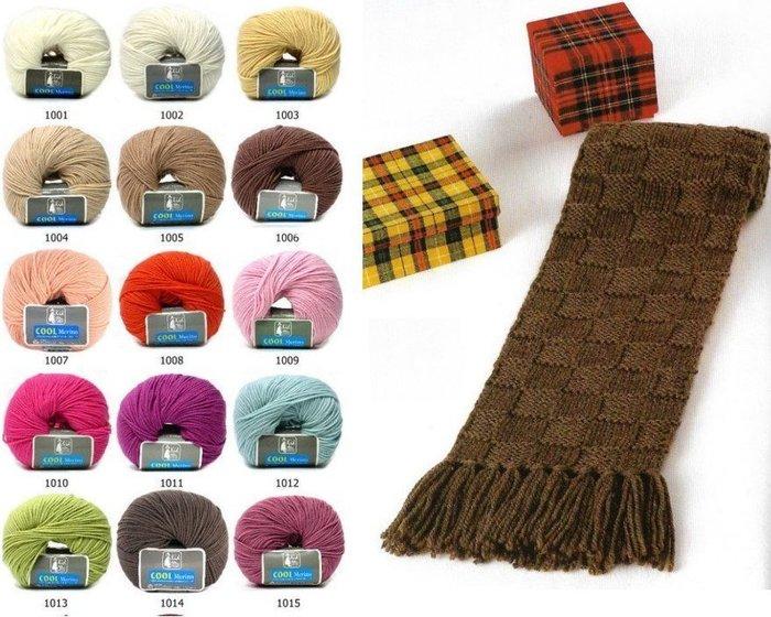 毛線格紋圍巾材料包 ~多色 ! 毛線、 藝材料、編織工具、編織書~~彩暄 坊~