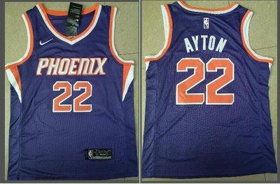 保真NBA鳳凰城太陽隊22#Deandre Ayton 安德烈-艾頓 電繡籃球服球衣運動背心 紫色