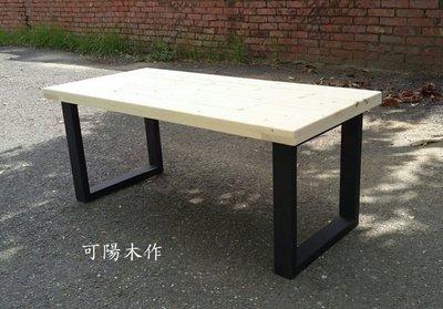 【可陽木作】原木工業風鐵腳長椅 / 鐵腳餐椅 / 休閒椅 庭園椅 公園椅 / 木椅 木凳 / 長凳 長板凳