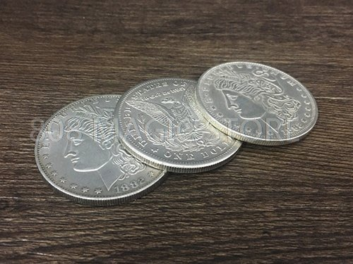 [MAGIC999] 魔術道具 三仙硬幣 摩根版