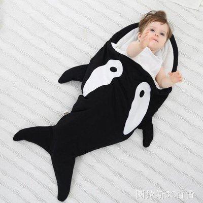 嬰兒鯊魚造型睡袋春秋冬外出加厚推車毯寶寶防踢被新生兒拍照抱被