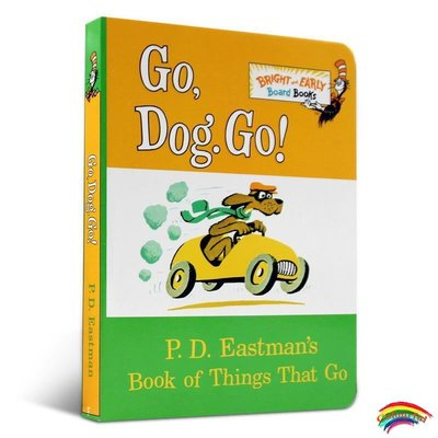 英文原版繪本 Go, Dog Go! 紙板書Dr. Seuss蘇斯博士 英文原版童書 啟蒙廖彩杏書單 早教0-3歲低幼適齡版睡前故事圖畫書