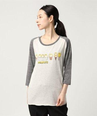 全新日本正品 Ray BEAMS PEANUTS / アイス ロング Tシャツ