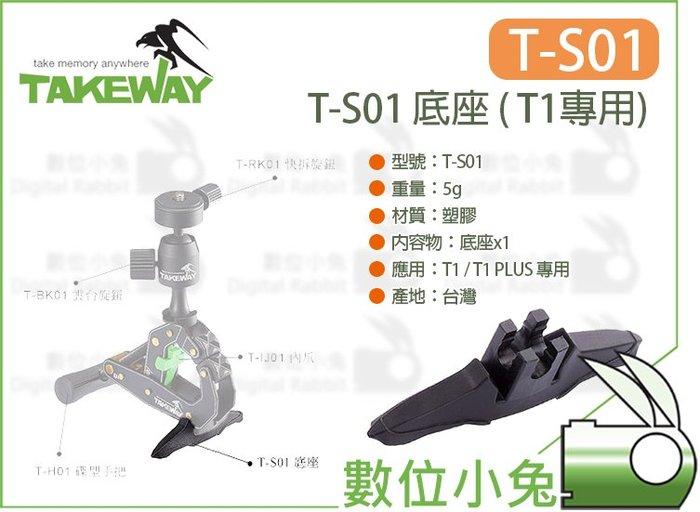 數位小兔【Takeway T1 專用 T-S01 底座】TS01 站立 穩固 T1 PLUS 支撐 腳座 鉗式腳架